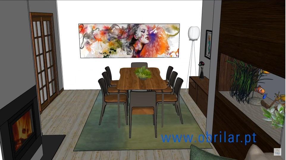 Projeto 3D de Remodelação de Sala