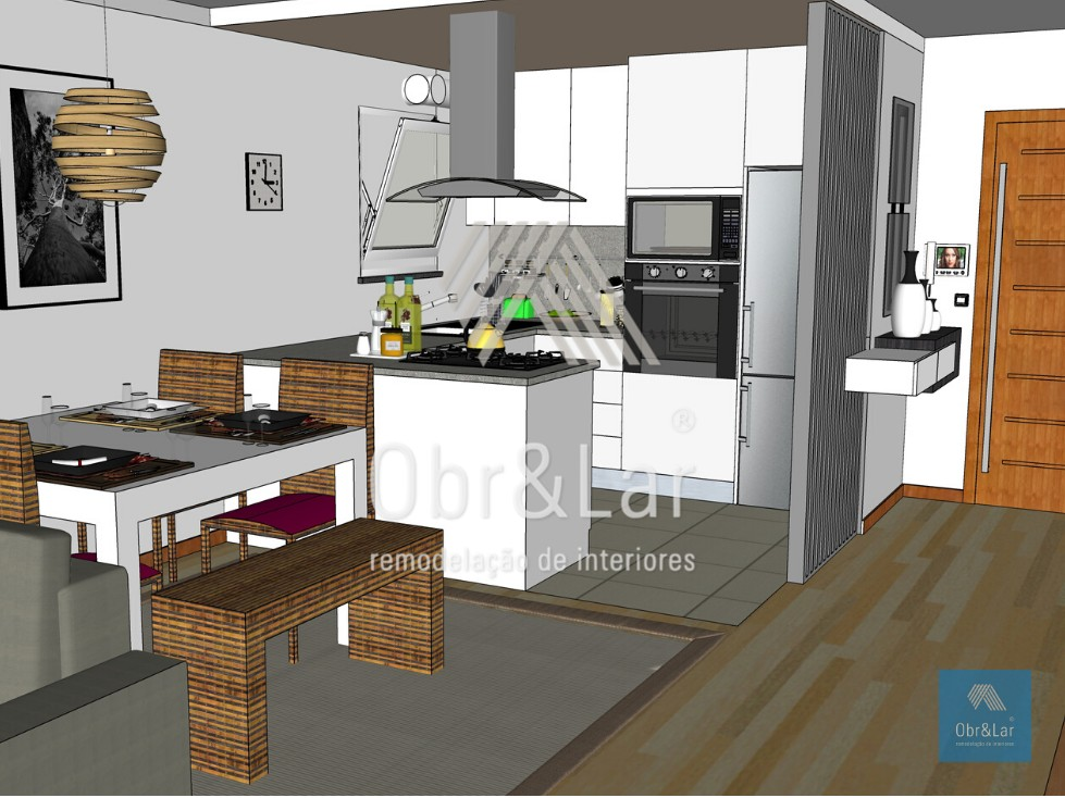 Remodelação de Apartamento T1 – Projeto 3D