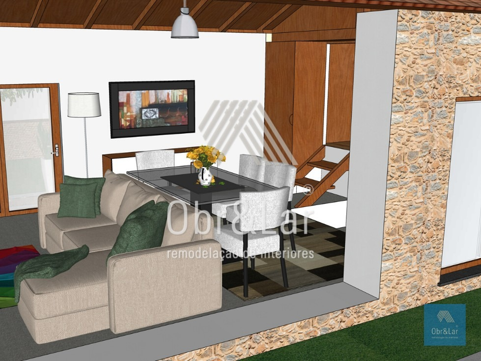 Remodelação de Casa Rústica – Projeto 3D
